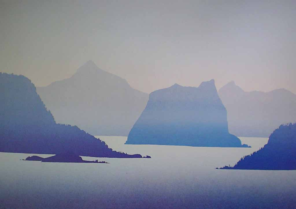 Howe Sound by Peter and Traudl Markgraf - offset lithograph vintage fine art print reproduction