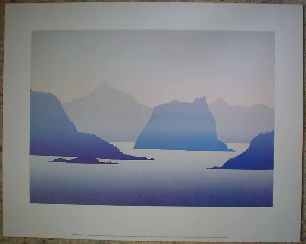 Howe Sound by Peter and Traudl Markgraf, shown with full margins - offset lithograph vintage fine art print reproduction