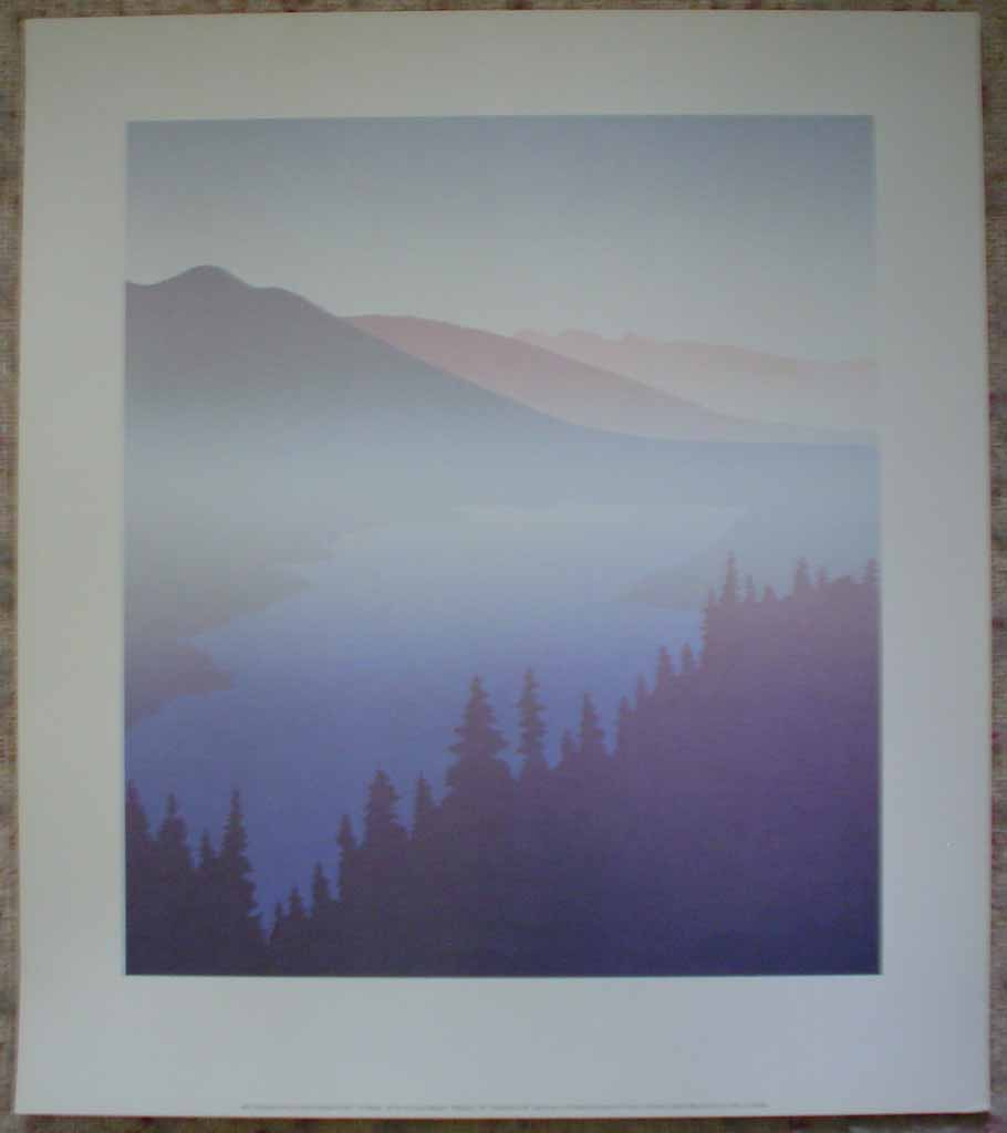 Port Moody by Peter and Traudl Markgraf, shown with full margins - offset lithograph vintage fine art print reproduction