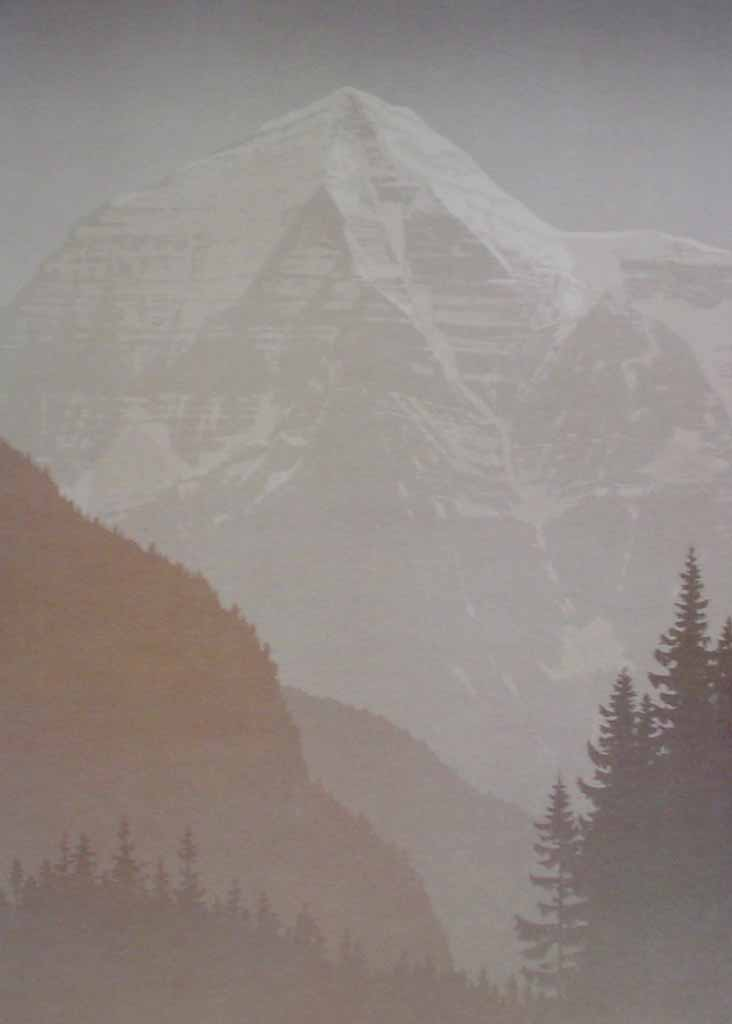 Mount Robson by Peter and Traudl Markgraf - offset lithograph vintage fine art print reproduction