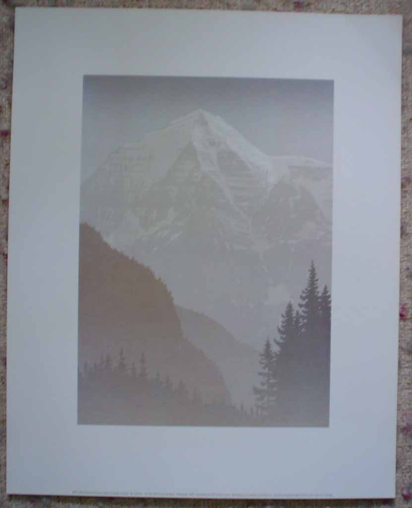 Mount Robson by Peter and Traudl Markgraf, shown with full margins - offset lithograph vintage fine art print reproduction