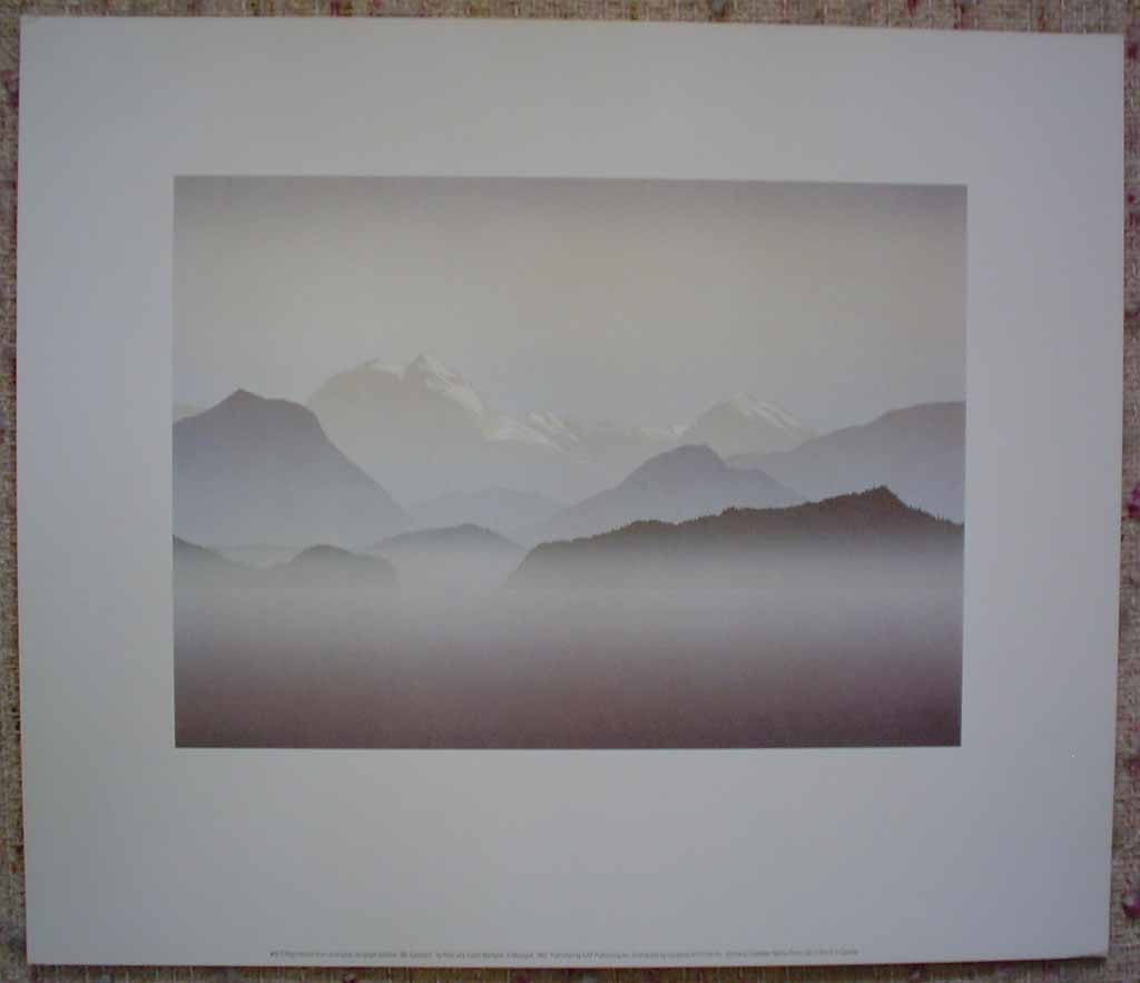 Mount Garibaldi by Peter and Traudl Markgraf, shown with full margins - offset lithograph vintage fine art print reproduction