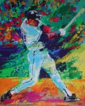 Bo Jackson, K.C. Royals All-Star by LeRoy Neiman - offset lithograph vintage fine art poster print