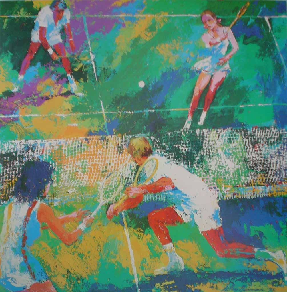 Tennis, Hammer Graphics - offset lithograph vintage poster print art reproduction