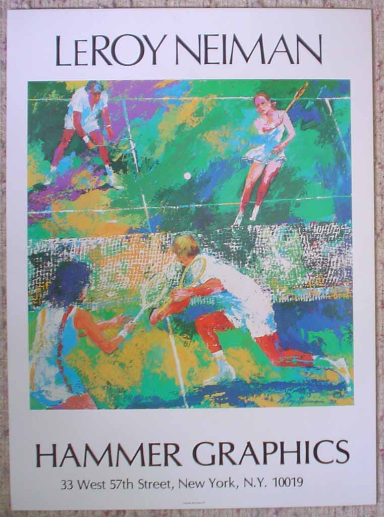Tennis, Hammer Graphics, shown with full margins - offset lithograph vintage poster print art reproduction