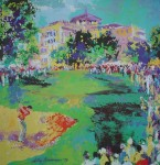 Westchester Classic Golf 1979 by LeRoy Neiman - offset lithograph vintage poster print art reproduction