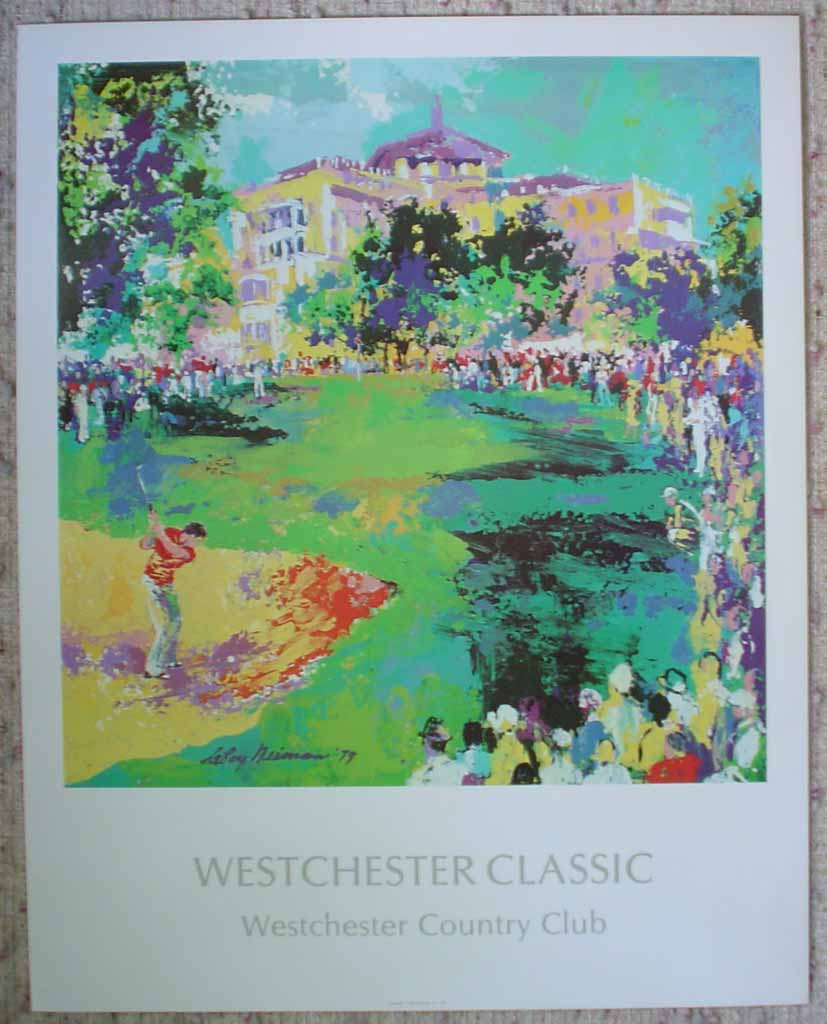 Westchester Classic Golf 1979 by LeRoy Neiman, shown with full margins - offset lithograph vintage poster print art reproduction