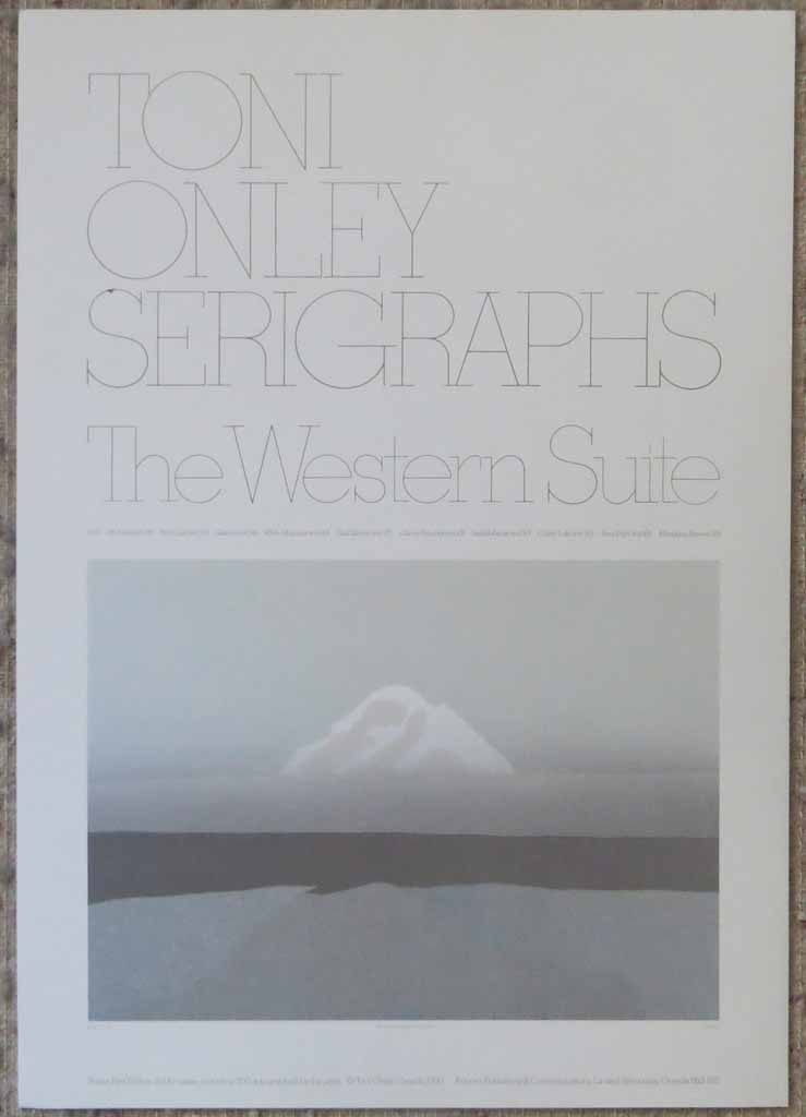 Mt. Baker: The Western Suite by Toni Onley, shown with full margins - offset lithograph limited edition vintage fine art poster print