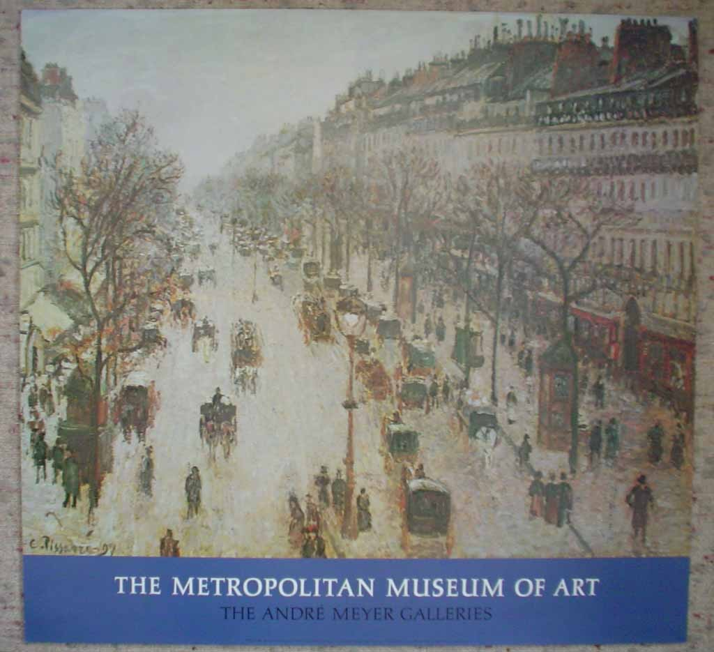 Boulevard Montmartre On A Winter Morning by Camille Pissarro, The Metropolitan Museum of Art, shown with full margins - offset lithograph fine art poster