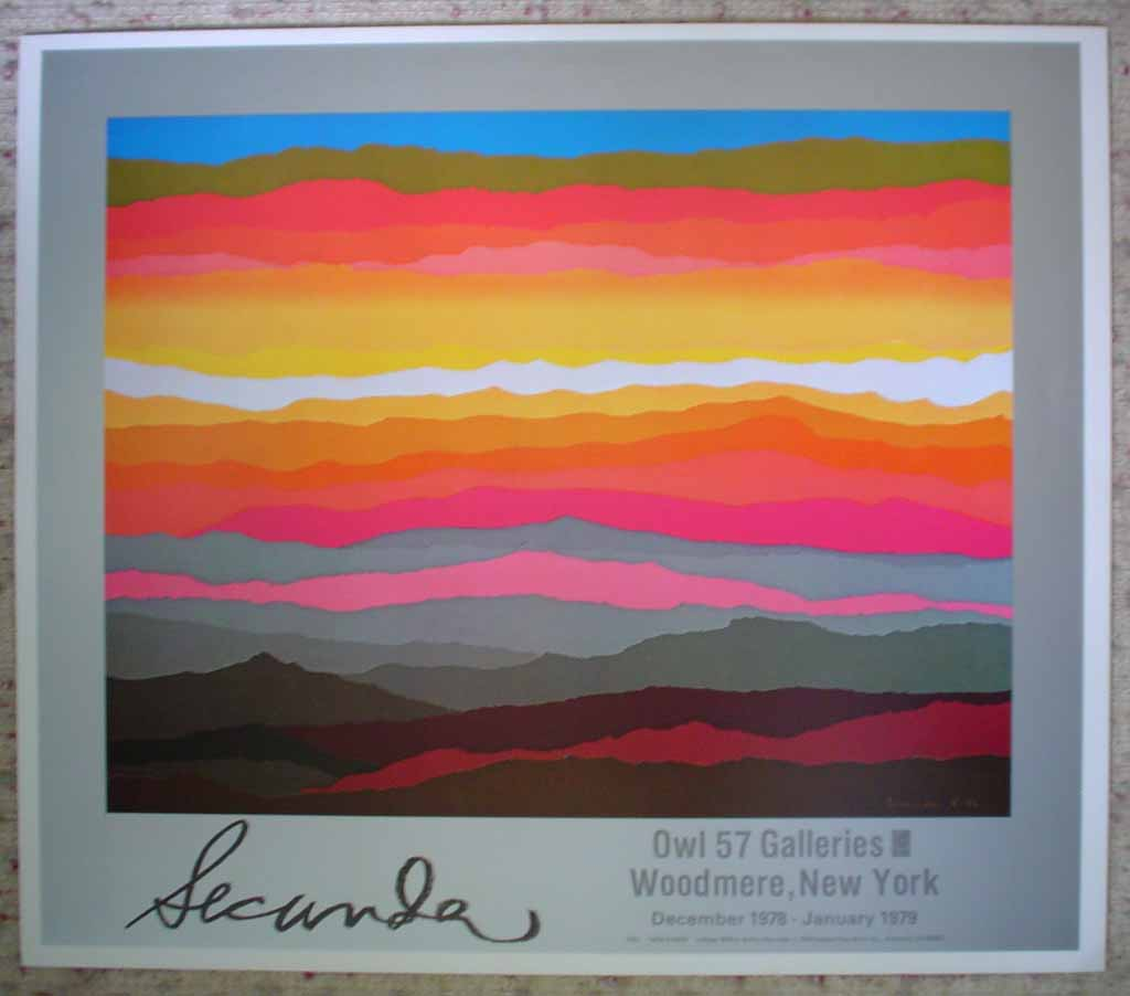 New Dawn by Arthur Secunda, Owl 57 Galleries, New York, shown with full margins - offset lithograph reproduction vintage fine art poster print