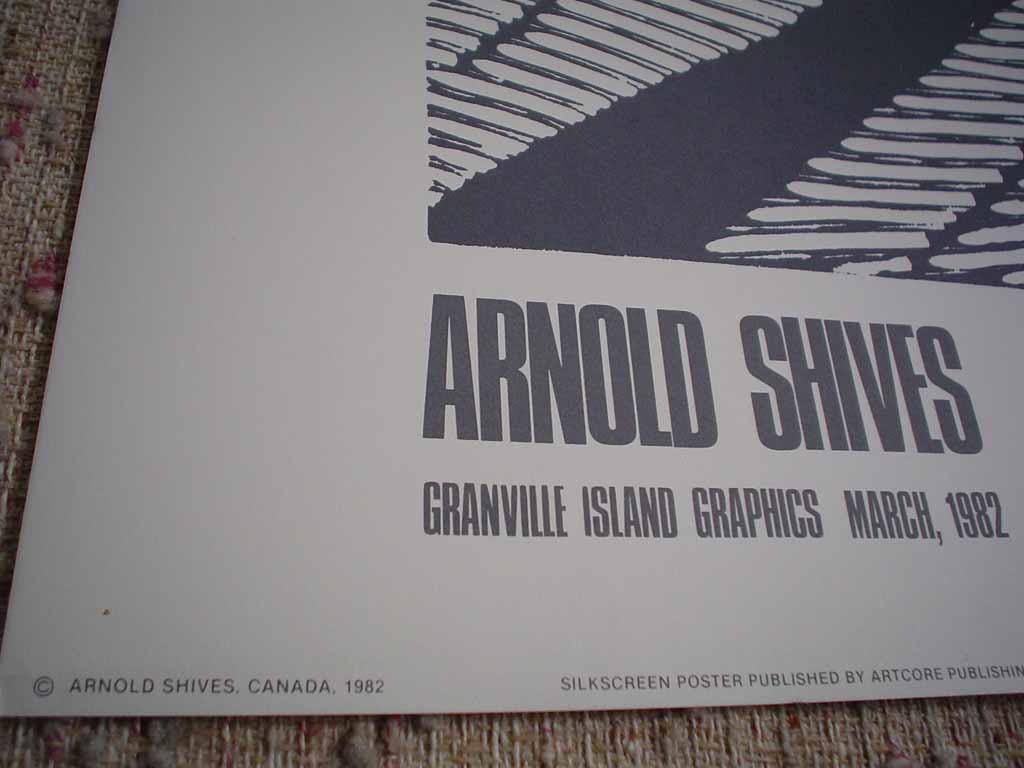 River Of Ice, Kluane by Arnold Shives, Granville Island Graphics 1982, detail to show publisher - silkscreen (serigraph, screen print) vintage fine art limited edition poster print