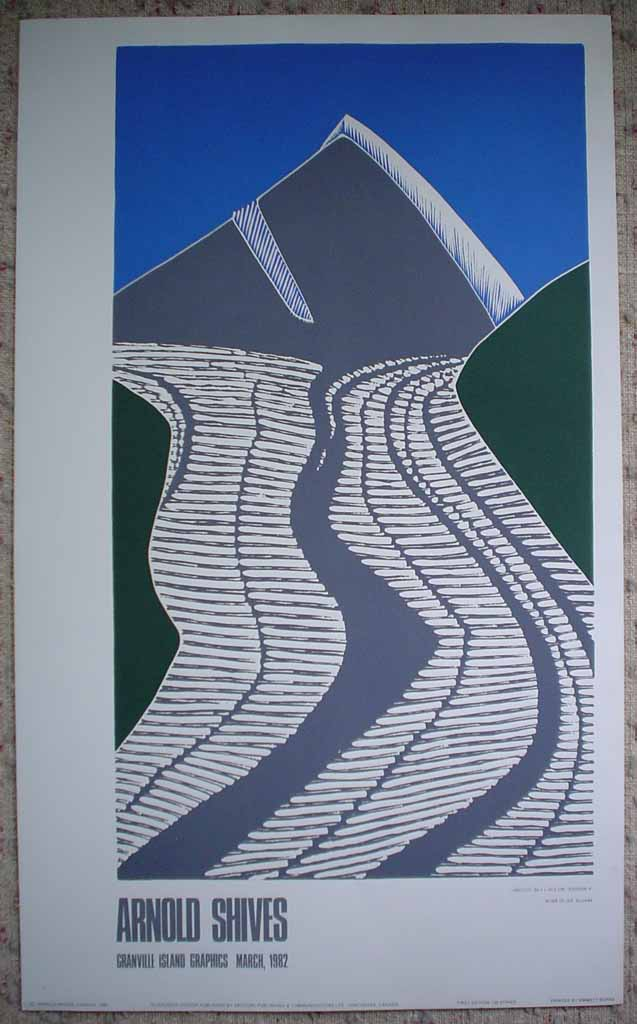 River Of Ice, Kluane by Arnold Shives, Granville Island Graphics 1982, shown with full margins - silkscreen (serigraph, screen print) vintage fine art limited edition poster print