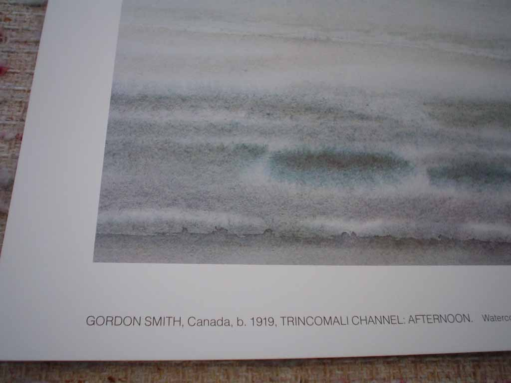 Trincomali Channel: Afternoon by Gordon Appelbe Smith, detail showing title - offset lithograph vintage fine art print