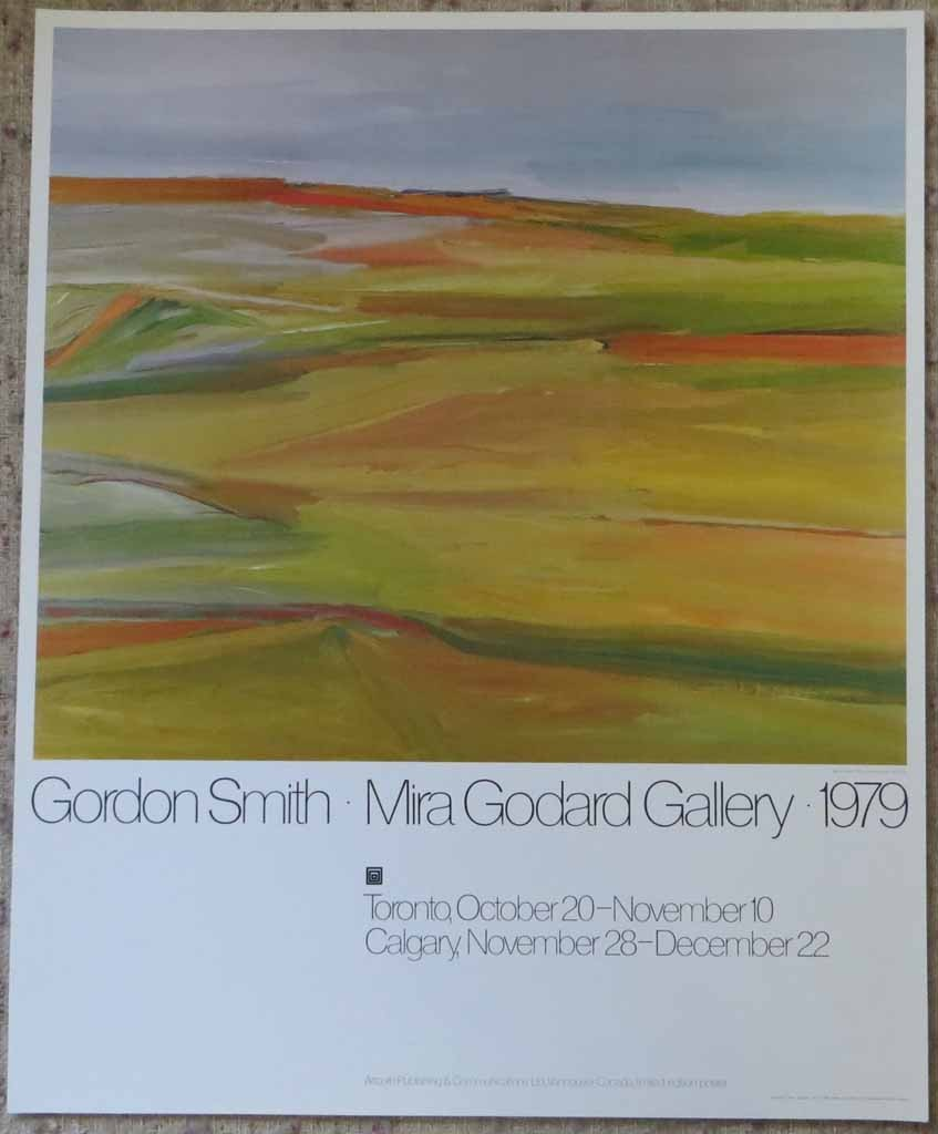 Bay Of Fundy by Gordon Appelbe Smith, Mira Godard Gallery 1979, shown with full margins - offset lithograph limited edition vintage fine art poster print