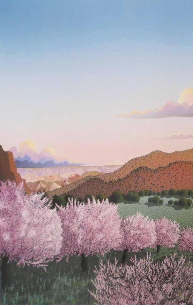 Tranquility by Doug West, Leslie Levy Fine Art Scottsdale AZ - offset lithograph vintage fine art poster print