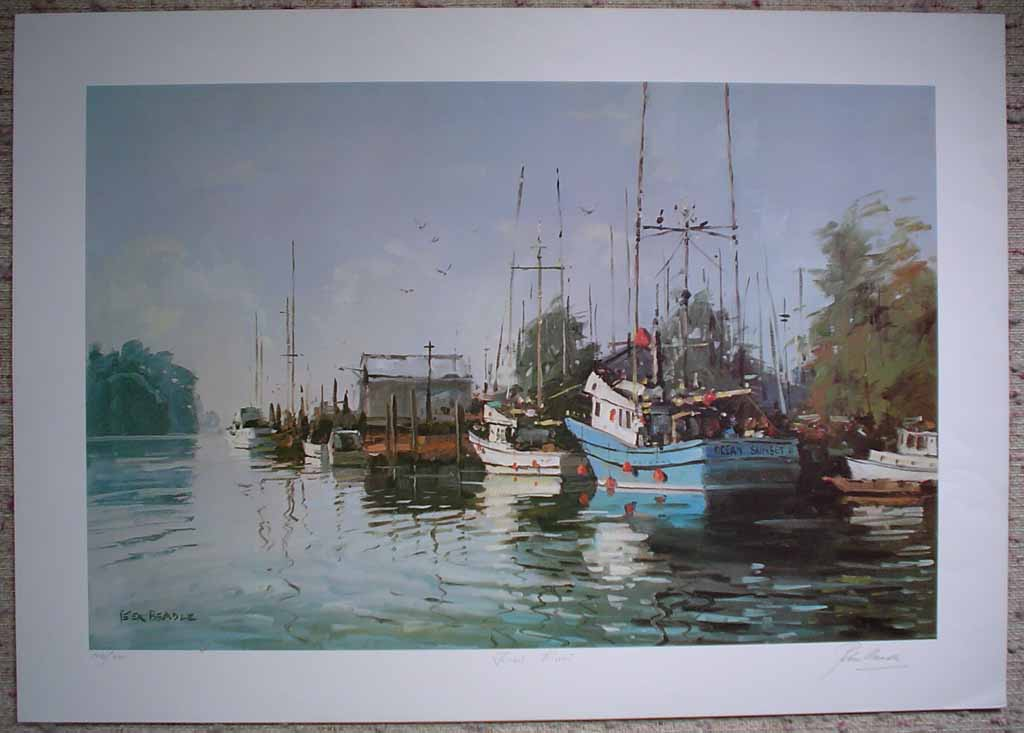 Fraser River by Peter Beadle, signed, titled and numbered 106/350 by artist, shown with full margins - offset lithograph limited edition vintage fine art print