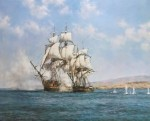 The Smoke Of Battle, The Gallant Speedy by Montague Dawson - offset lithograph reproduction vintage fine art print