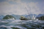 Seiners Running by Robert McVittie, numbered 109/950 and signed by artist - offset lithograph limited edition vintage fine art print