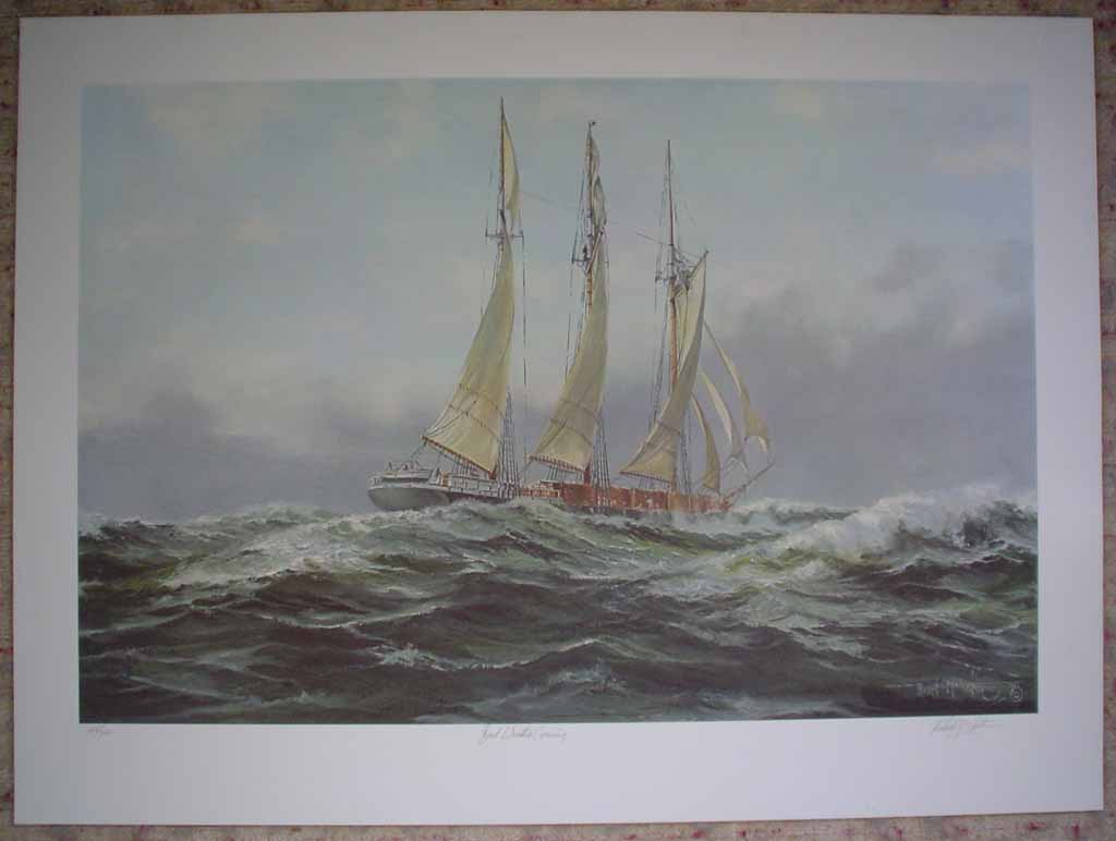 Bad Weather Coming by Robert McVittie, numbered 158/350, titled and signed by artist, shown with full margins - offset lithograph limited edition vintage fine art print