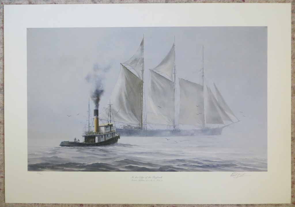 At The Edge Of The Fogbank by Robert McVittie, numbered 218/950 and signed by artist, shown with full margins - offset lithograph limited edition vintage fine art print