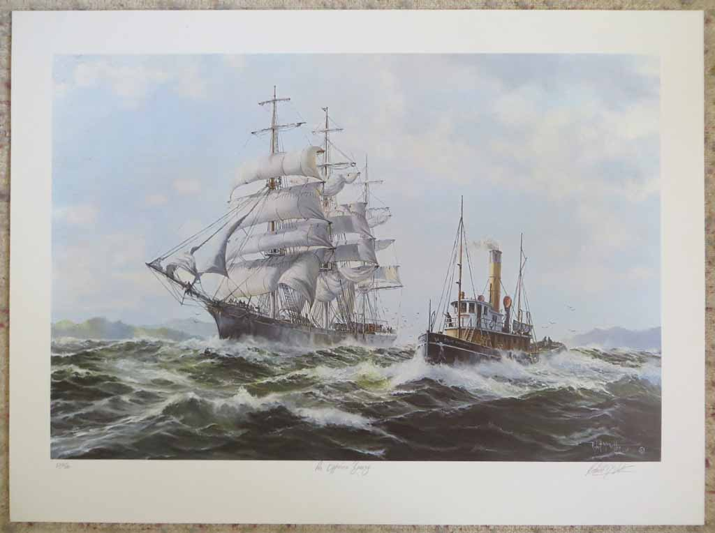 An Offshore Breeze by Robert McVittie, numbered 222/350, titled and signed by artist, shown with full margins - offset lithograph limited edition vintage fine art print