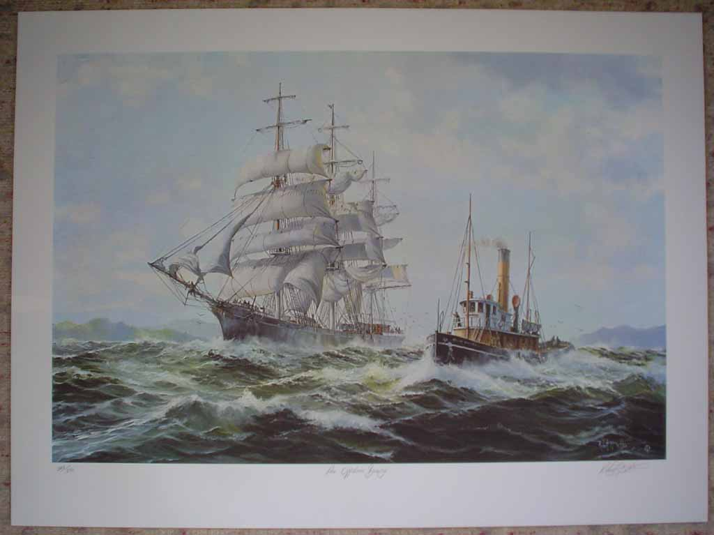 An Offshore Breeze by Robert McVittie, numbered 223/350, titled and signed by artist, shown with full margins - offset lithograph limited edition vintage fine art print