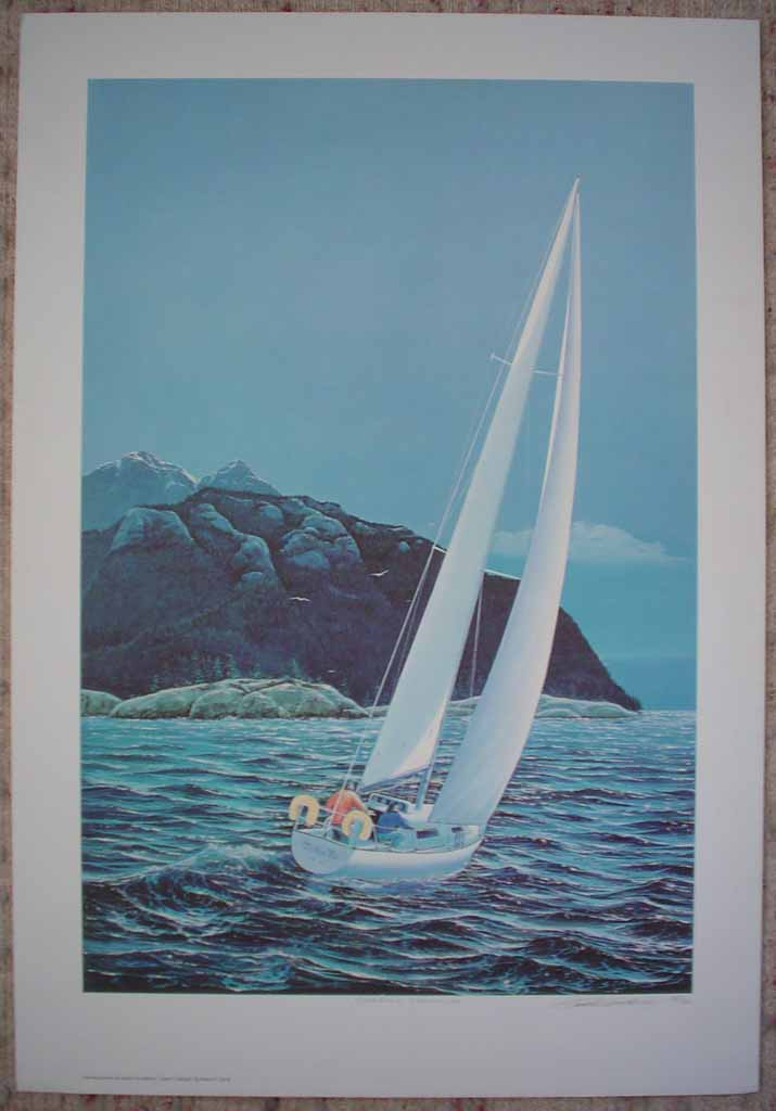 Coastal Challenge by Robert D. Stacey, signed and titled by artist, numbered 80/300, shown with full margins - offset lithograph limited edition print fine art reproduction