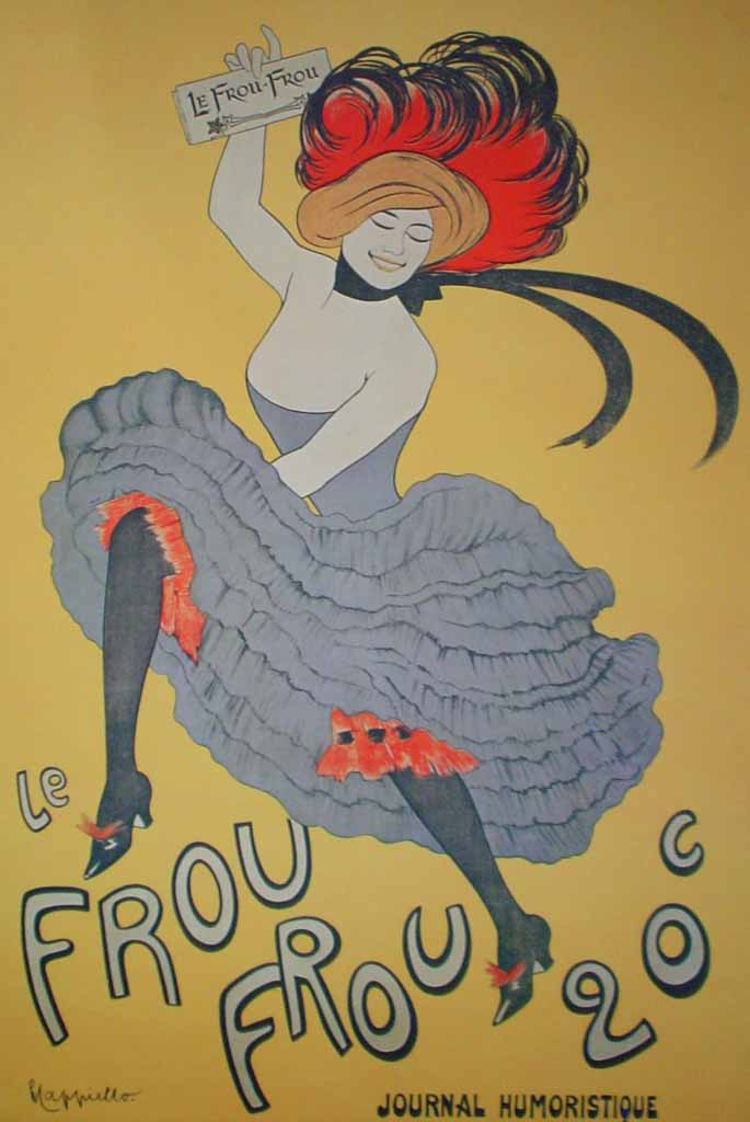 Le Frou Frou, Journal Humoristique by Leonetto Cappiello, turn-of-the-century French Advertising Poster - offset lithograph reproduction vintage ©1978 poster art print
