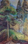 Forest Landscape II by Emily Carr - offset lithograph reproduction vintage fine art print