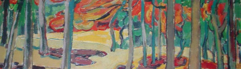 Autumn Woods by Emily Carr - offset lithograph reproduction vintage fine art print