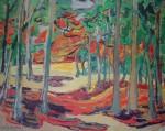 Autumn Woods by Emily Carr - offset lithograph reproduction vintage fine art print