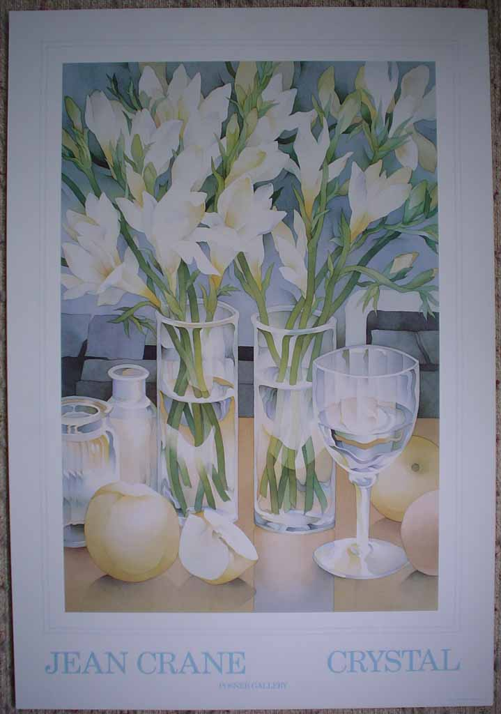 Crystal by Jean Crane, shown with full margins - offset lithograph reproduction vintage fine art poster print