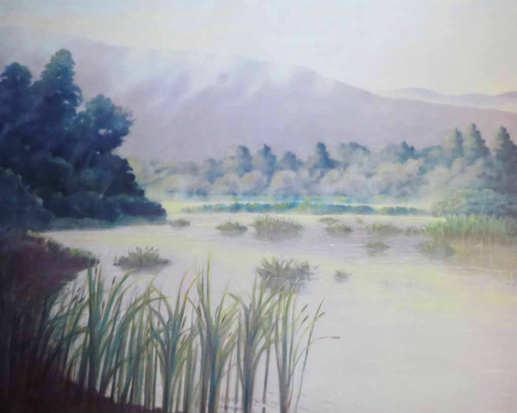 Morning Wetlands by Ray Ciarrochi - offset lithograph reproduction vintage fine art poster print