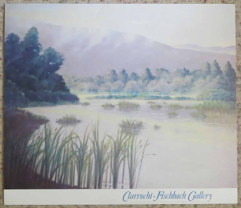 Morning Wetlands by Ray Ciarrochi, Fischbach Gallery, shown with full margins - offset lithograph reproduction vintage fine art poster print