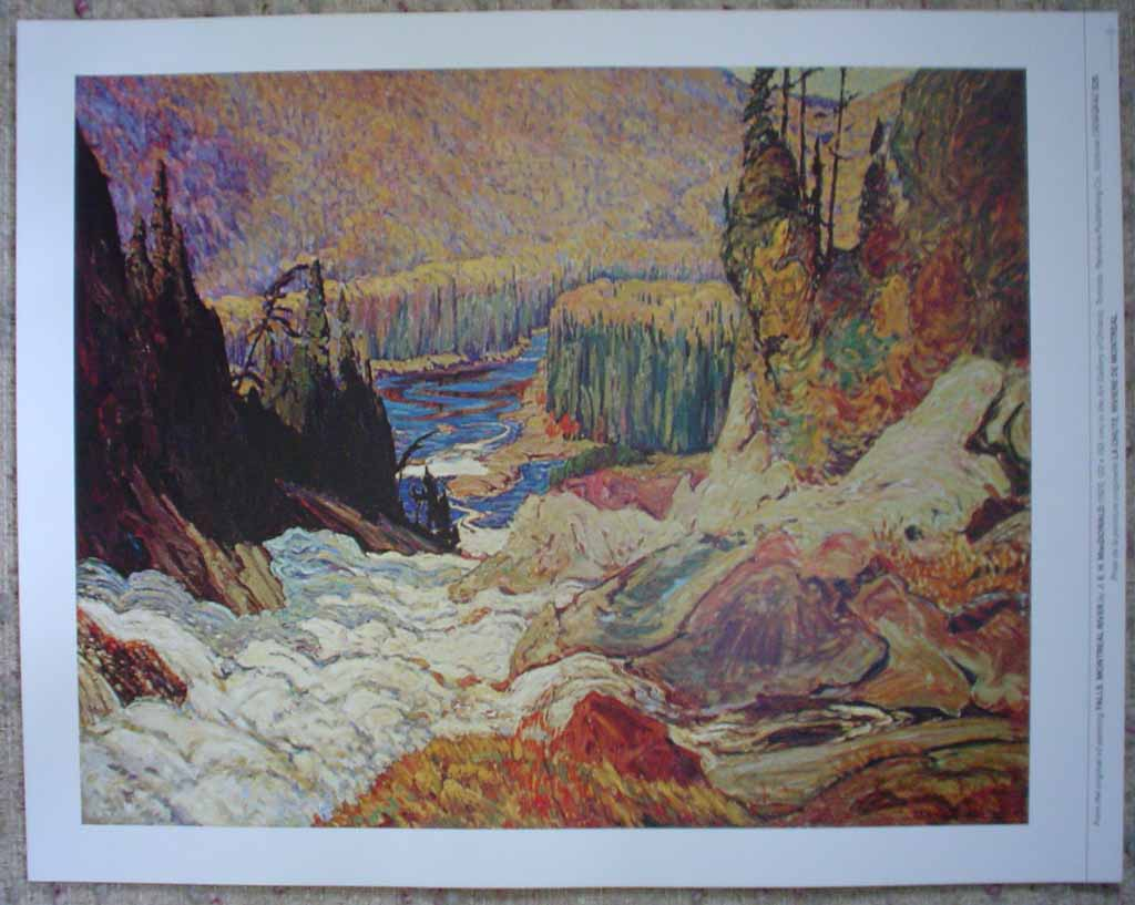 KerrisdaleGallery.com - stock ID# mc006ph - Falls, Montreal River by James Edward Hervey MacDonald - Group of Seven offset lithograph reproduction vintage fine art print
