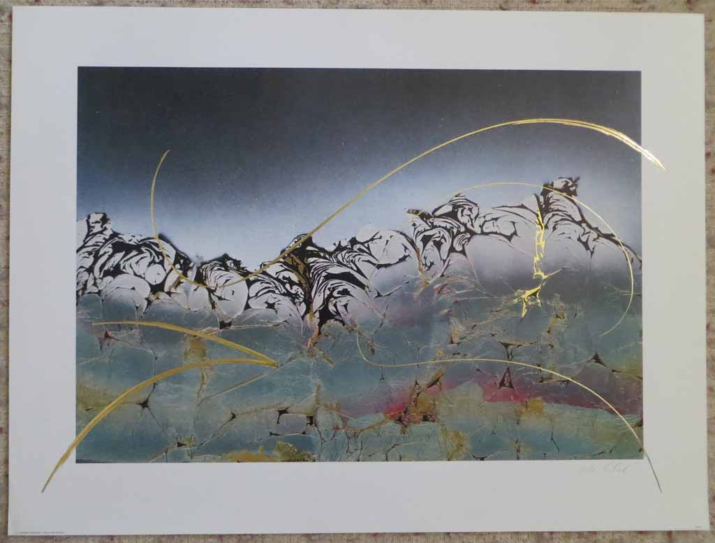 Dream I: Dream 1 by Meridian Publishing, signed by unknown artist, shown with full margins - offset lithograph reproduction with gold foil embossed insets vintage fine art print