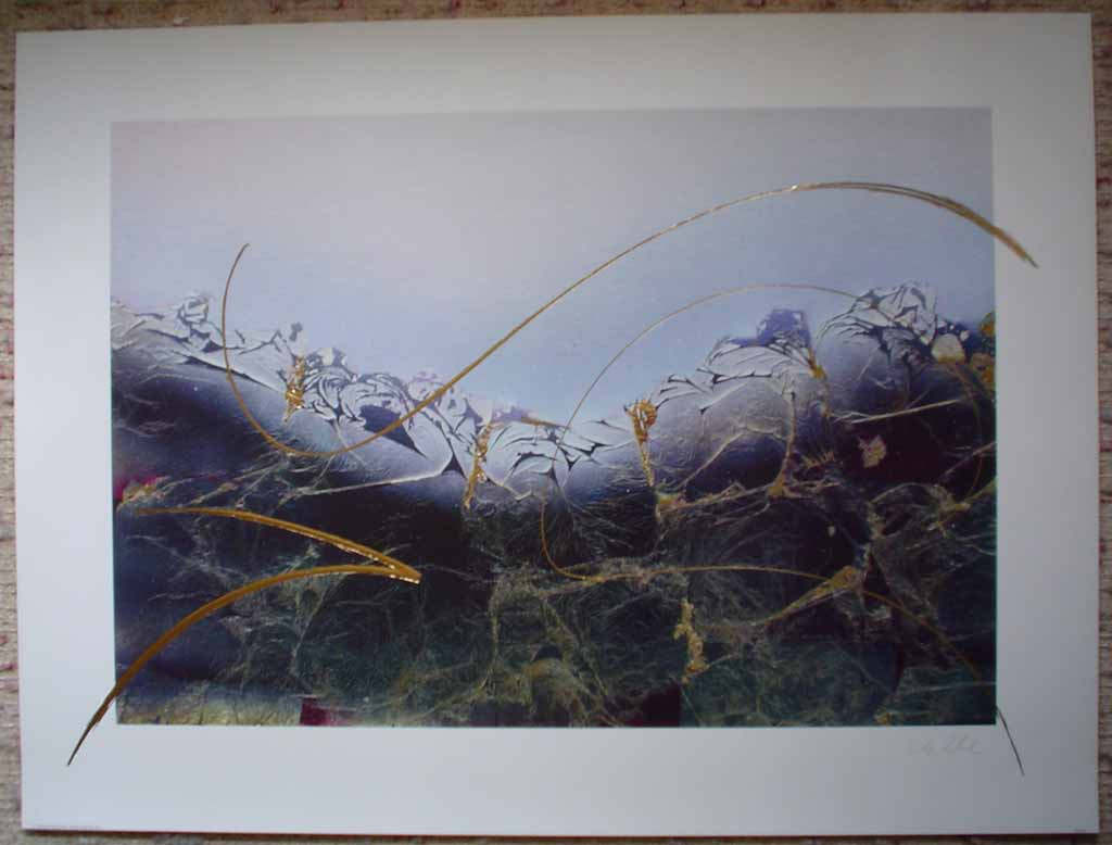 Dream II: Dream 2 by Meridian Publishing, signed by unknown artist, shown with full margins - offset lithograph reproduction with gold foil embossed insets vintage fine art print