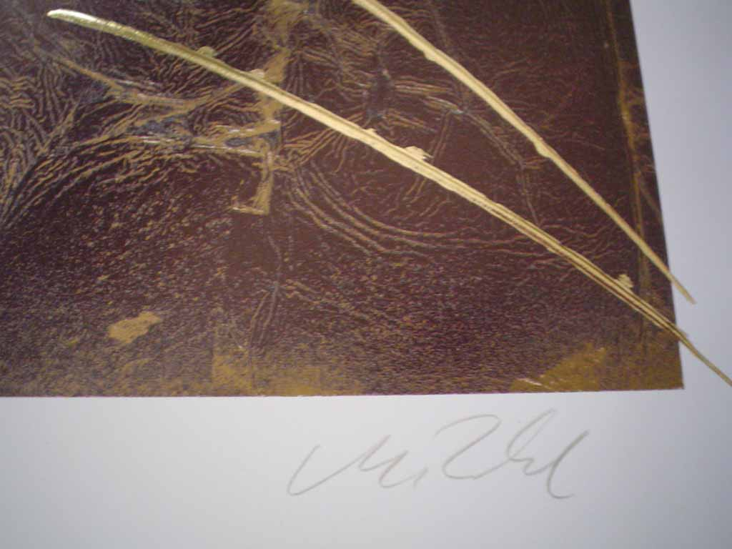 Dream III: Dream 3 by Meridian Publishing, signed by unknown artist, detail of signature - offset lithograph reproduction with gold foil embossed insets vintage fine art print