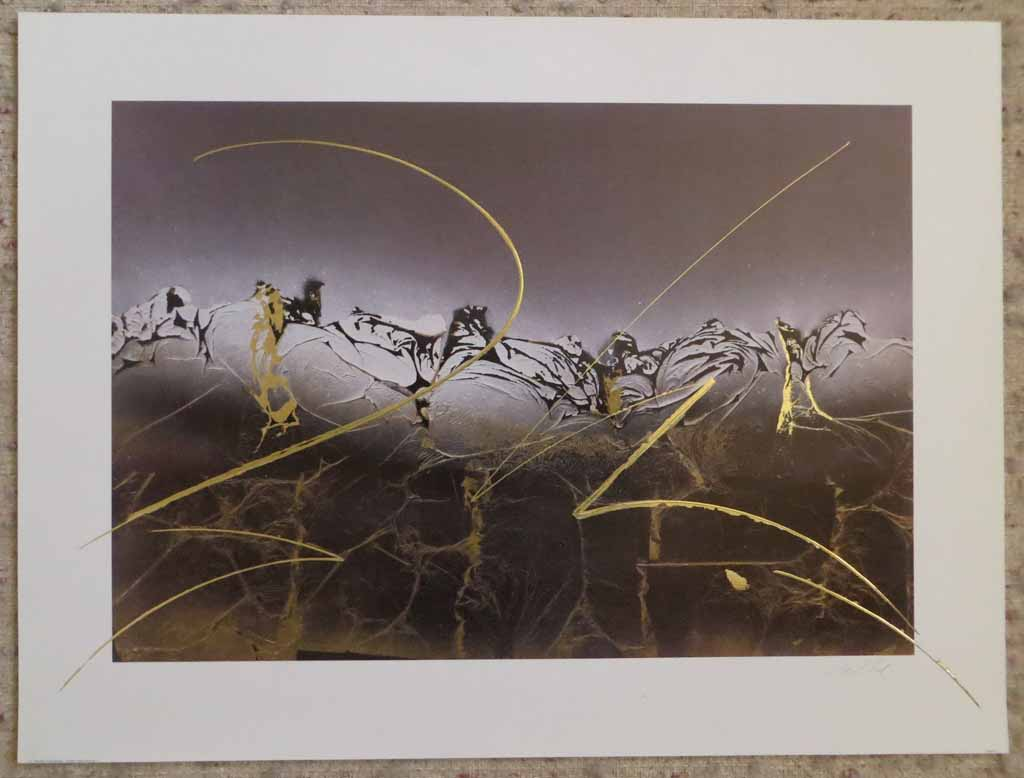 Dream III: Dream 3 by Meridian Publishing, signed by unknown artist, shown with full margins - offset lithograph reproduction with gold foil embossed insets vintage fine art print
