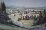 Countryside by Bill Saunders - hand-numbered 280/375 and signed by the artist - offset lithograph limited edition vintage fine art print
