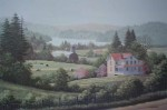 Spring Pastures by Bill Saunders - hand-numbered 296/375 and signed by the artist - offset lithograph limited edition vintage fine art print
