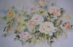 Tea Roses by P.J. Steadman - offset lithograph reproduction vintage fine art print