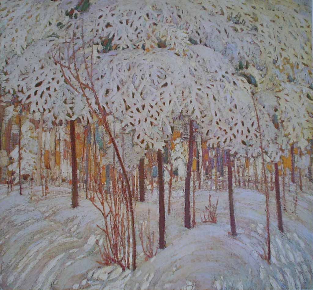 Snow In October by Tom Thomson, Group of Seven - offset lithograph reproduction vintage fine art print
