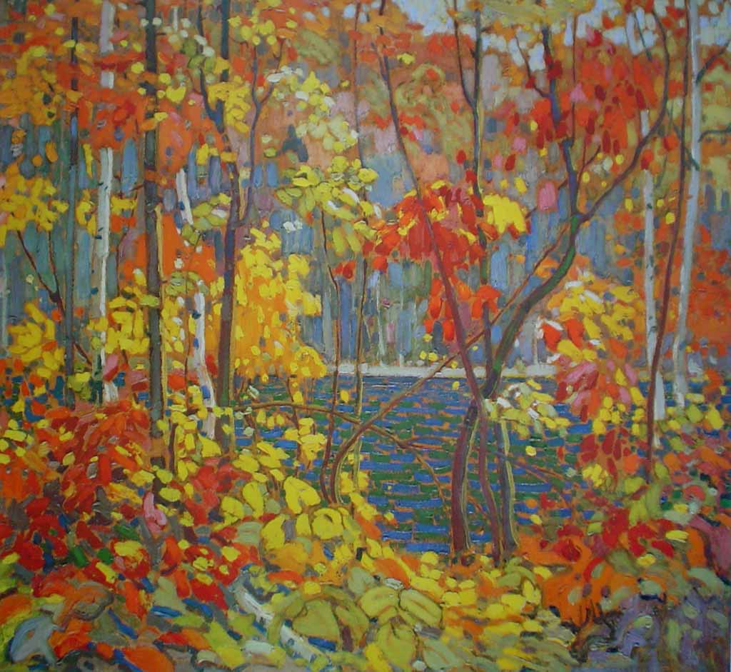 The Pool by Tom Thomson - offset lithograph reproduction vintage fine art print