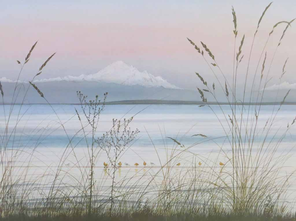 Boundary Bay by Jeane Duffey, 18x24, printed in England - offset lithograph reproduction vintage fine art print