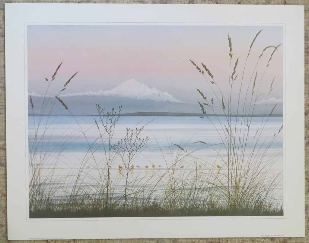 Boundary Bay by Jeane Duffey, 18x24, printed in England, shown with full margins - offset lithograph reproduction vintage fine art print