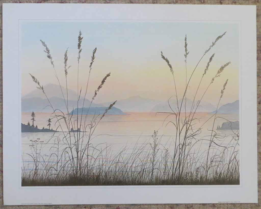 Islands In The Sound by Jeane Duffey, 18x24, printed in England, shown with full margins - offset lithograph reproduction vintage fine art print