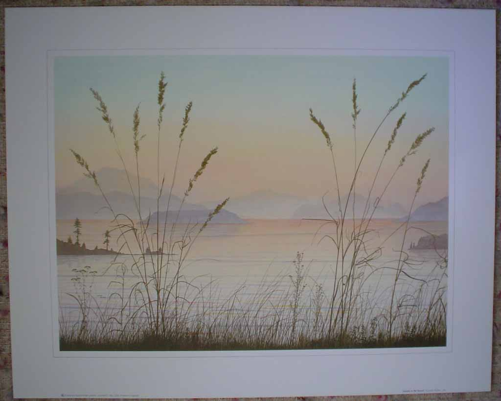 Islands In The Sound by Jeane Duffey, 12x16, printed in England, shown with full margins - offset lithograph reproduction vintage fine art print