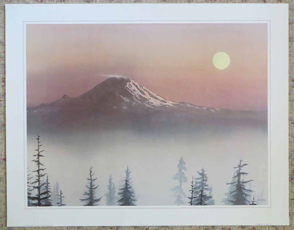 The Mountain by Jeane Duffey, 18x24, printed in England, shown with full margins - offset lithograph reproduction vintage fine art print