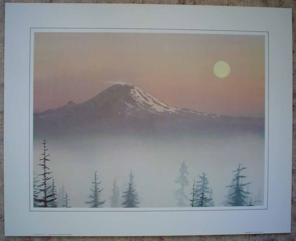 Mountain by Jeane Duffey, 12x16, printed in England, shown with full margins - offset lithograph reproduction vintage fine art print